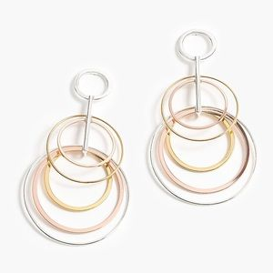 BRAND NEW Jcrew Layered Circle Drop Earrings